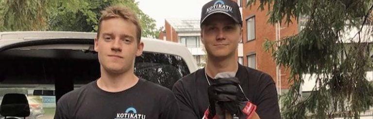 Kesätyöläiset Roni ja Emil