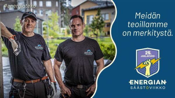 Energiansäästöviikko – meidän teoillamme on merkitystä